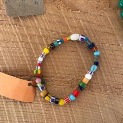 Multi-Colored African Bead Bracelet