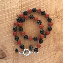 Obsidian + Red Jasper Doublewrap Toggle