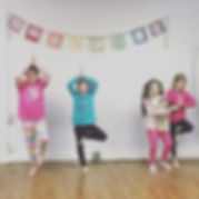 Tree pose! Kids yoga is so much FUN! Thi
