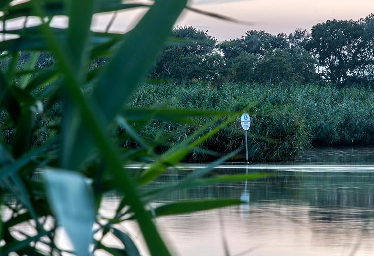 Natura 2000 Természetvédelmi Terület a stéggel szemben