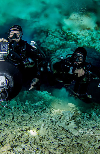 Cave diving guding in Mexico only with Advanced Diver Mexico
