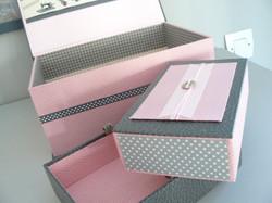 cartonnage boite à couture aménagée