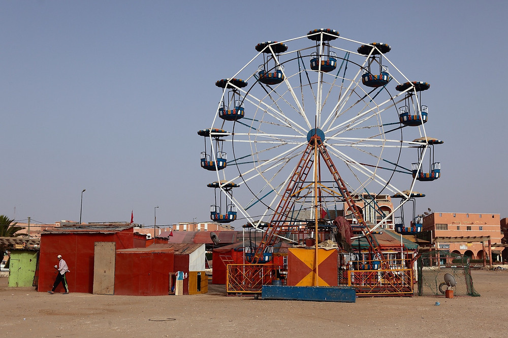 Ferris wheel in Laayoune, the capital of the Western Sahara. PHOTO CREDIT: Idee Monterrey Photography Studio.