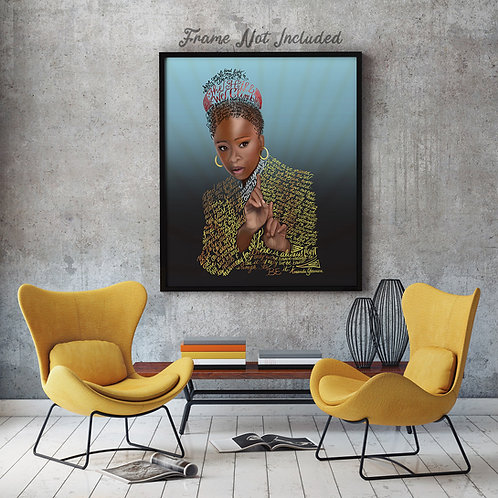 "Amanda Gorman ""DEFINED"" Photographic Art Print"