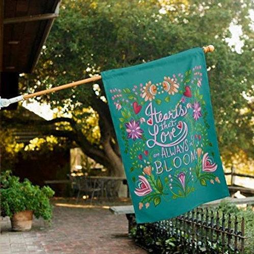 Decorative Home & Garden Folk Art Floral Outdoor Flag