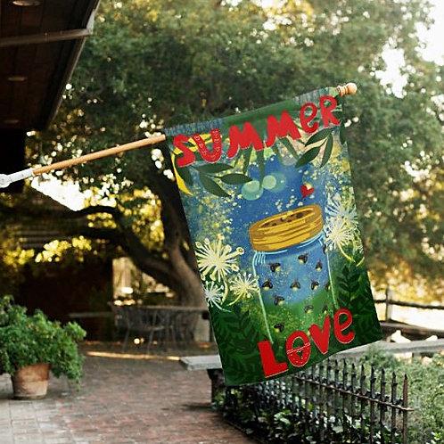 Summer Love Outdoor Flag for House Garden Patio Deck