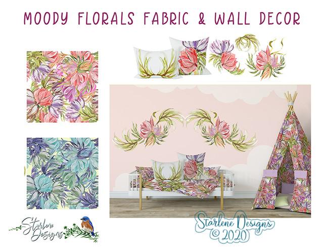Moody Florals Decor