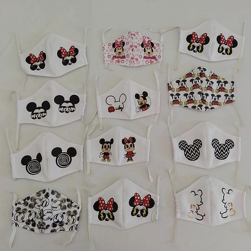 Máscaras Silkadas  Personalizadas Infantis