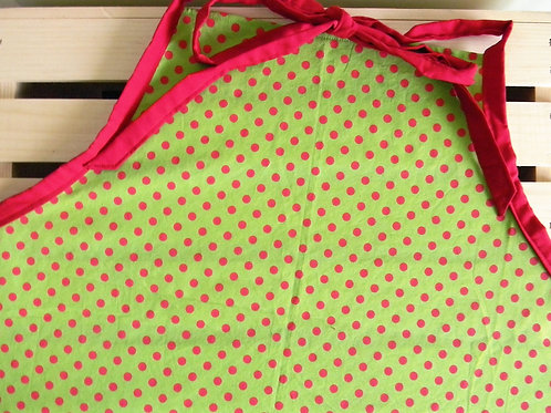 Green and Red Polka Dot Apron