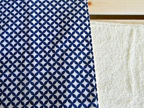Navy Geometric Burp Cloth