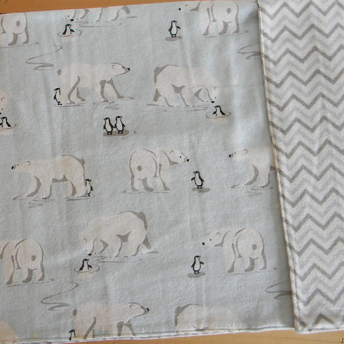 Arctic Friends Flannel Blanket