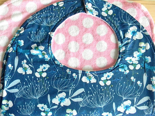 Blue Floral Clothing Protector