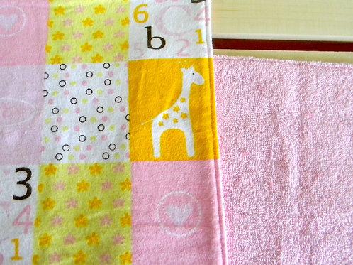 Pink ABC Burp Cloth