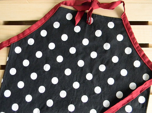 Black and White Polka Dot Apron