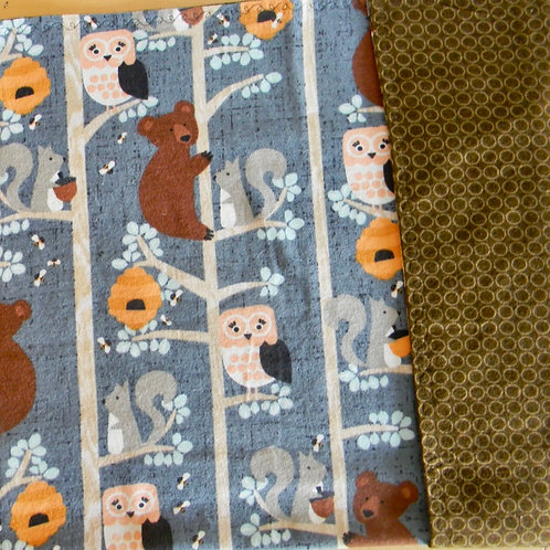 Whimsy Woodland Animals Flannel Blanket