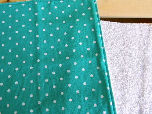 Teal Polka Dot Burp Cloth