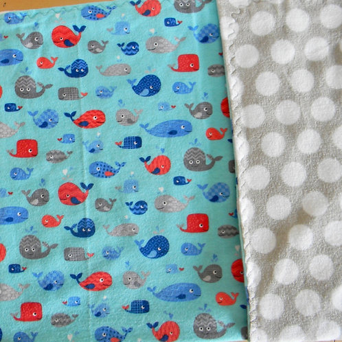 Little Whale Flannel Blanket