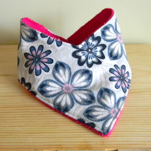 Pink & Blue Floral Drool Bib
