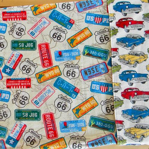 Vintage Car Flannel Blanket