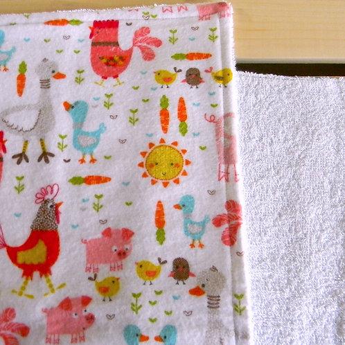 Barnyard Friends Burp Cloth