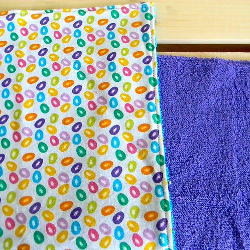 Jellybean Burp Cloth