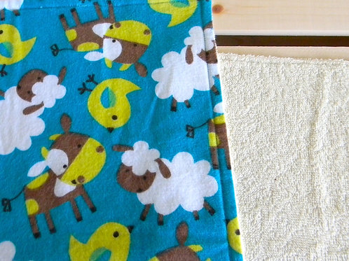 Sheep and Friends Burp Cloth