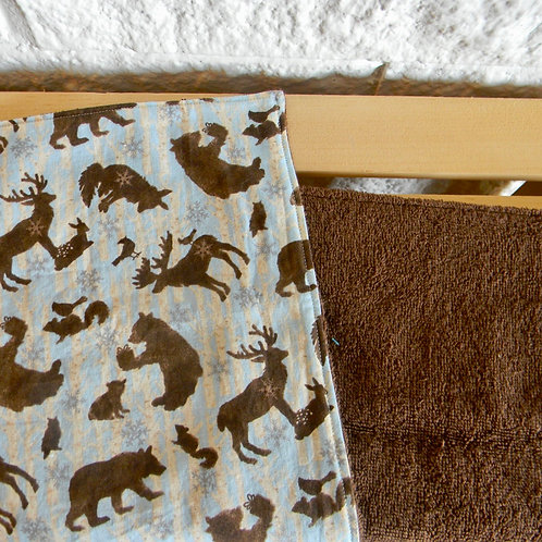 Wintery Forest Friends Burp Cloth