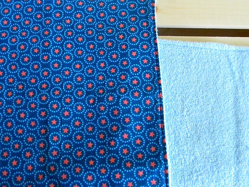 Blue and Orange Star Burp Cloth