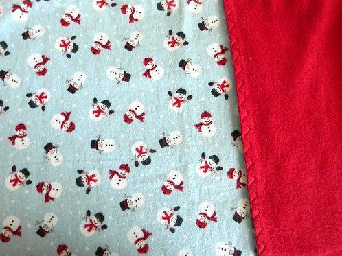 Festive Snowman Flannel Blanket