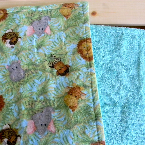 Jungle Animal Burp Cloth