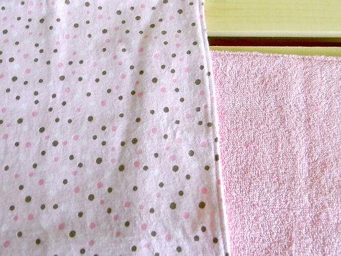 Pink Polka Dot Burp Cloth