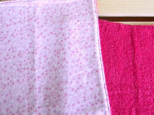 Pretty Pink Stars Burp Clothes