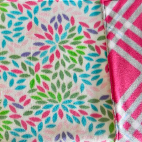 Colorful Floral Fleece Blanket