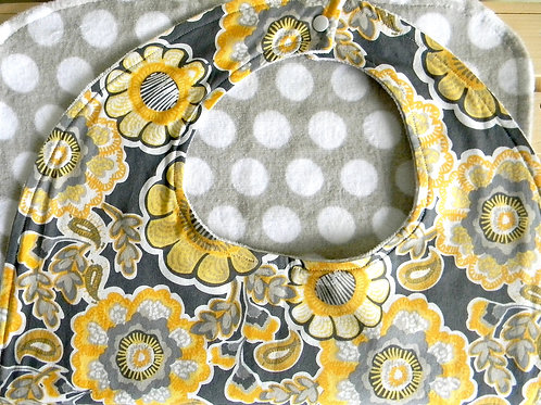 Whimsy Yellow Floral Clothing Protector