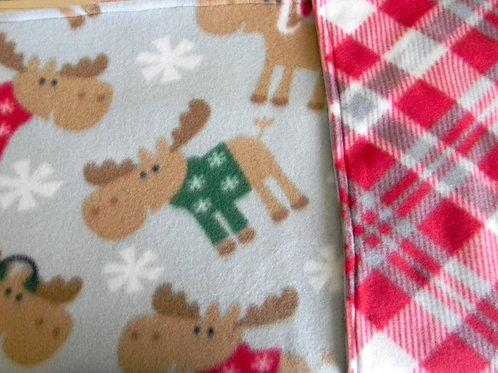 Merry Moose Fleece Blanket