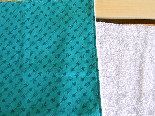 Teal Arrow Burp Cloth