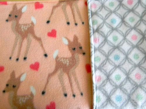 Adorable Does Fleece Blanket