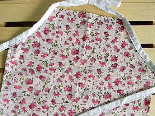 Hearts and Roses Apron