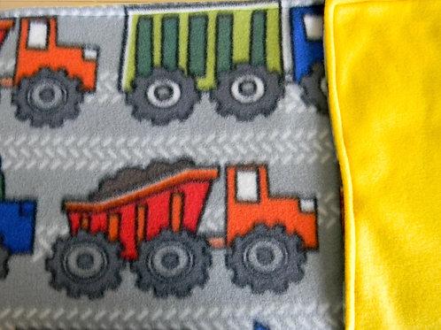 Colorful Trucks Fleece Blanket