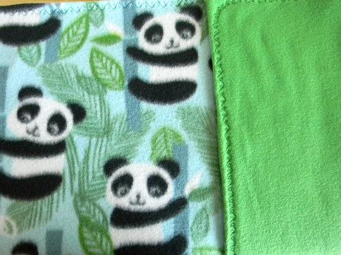 Playful Panda Fleece Blanket