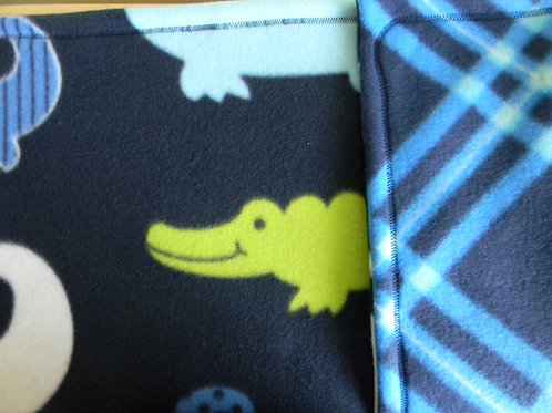 Friendly Alligators Fleece Blanket