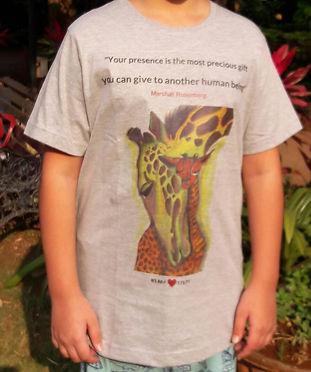 2 Designs of NVC - Giraffe T-shirts