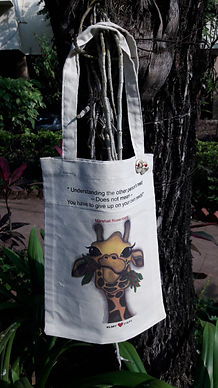2 Designs of NVC - Giraffe Cotton Bags