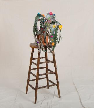 Pretty Happy #3 on a stool