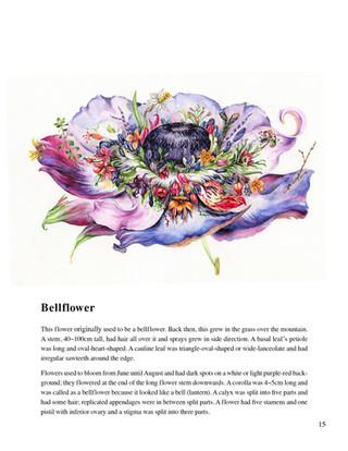 Illustrated Book of Hybrid Flowers_Bell Flower