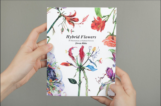 Illustrated Book of Hybrid Flowers Cover