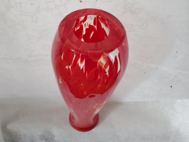 Red Splash Bud Vase