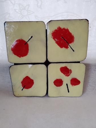 4 Red Cherries
