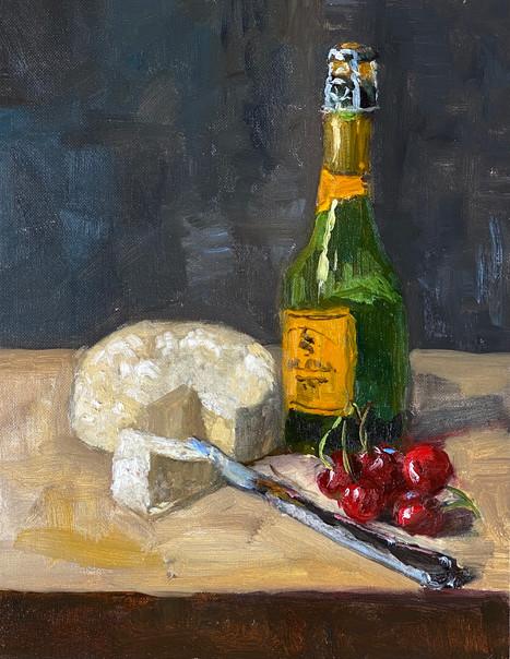 Camembert, Champagne and Cherries