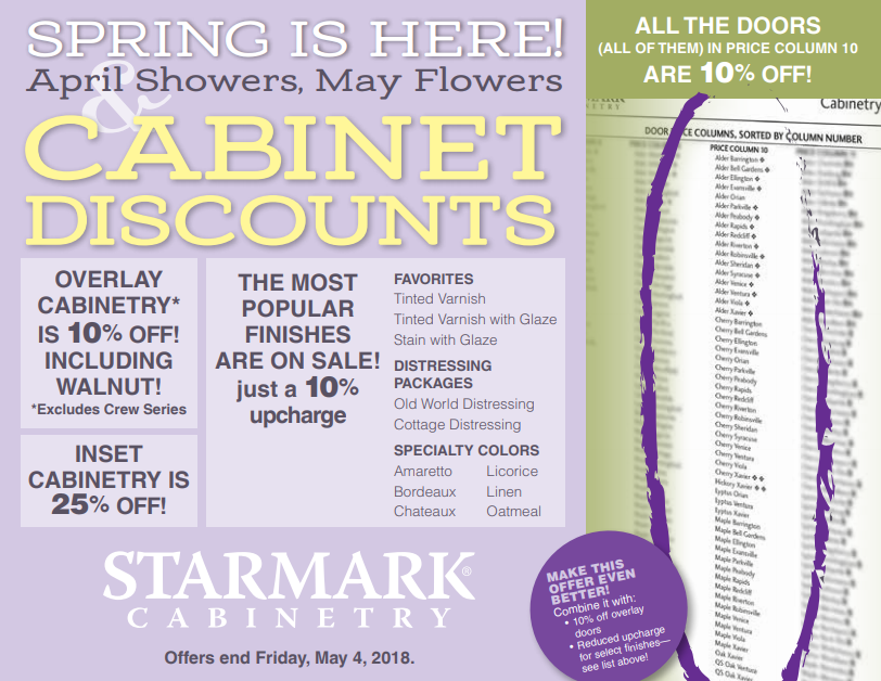 StarMark Cabinetry Spring Sale